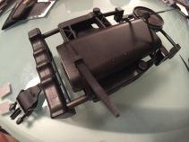 serraggio con fascette (prima del taglio della parte eccedente)