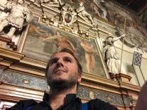 Nel salone di Palazzo Magnani