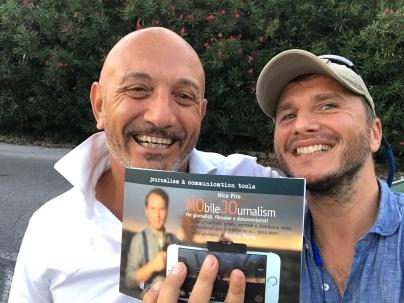 Con Max Lanzi del centro di documentazione giornalistica